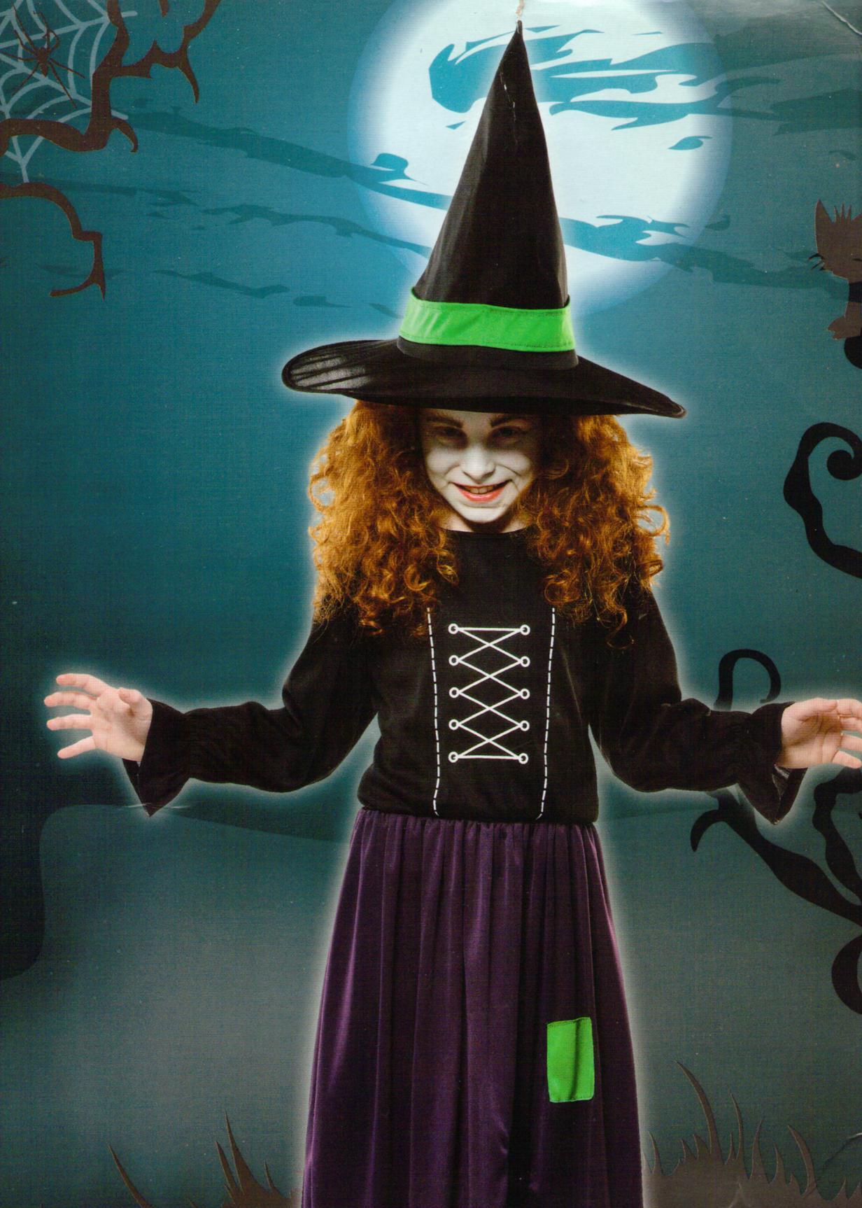 kinder kost m hexe zauberin grusel halloween horror fasching karneval gr e s ebay. Black Bedroom Furniture Sets. Home Design Ideas
