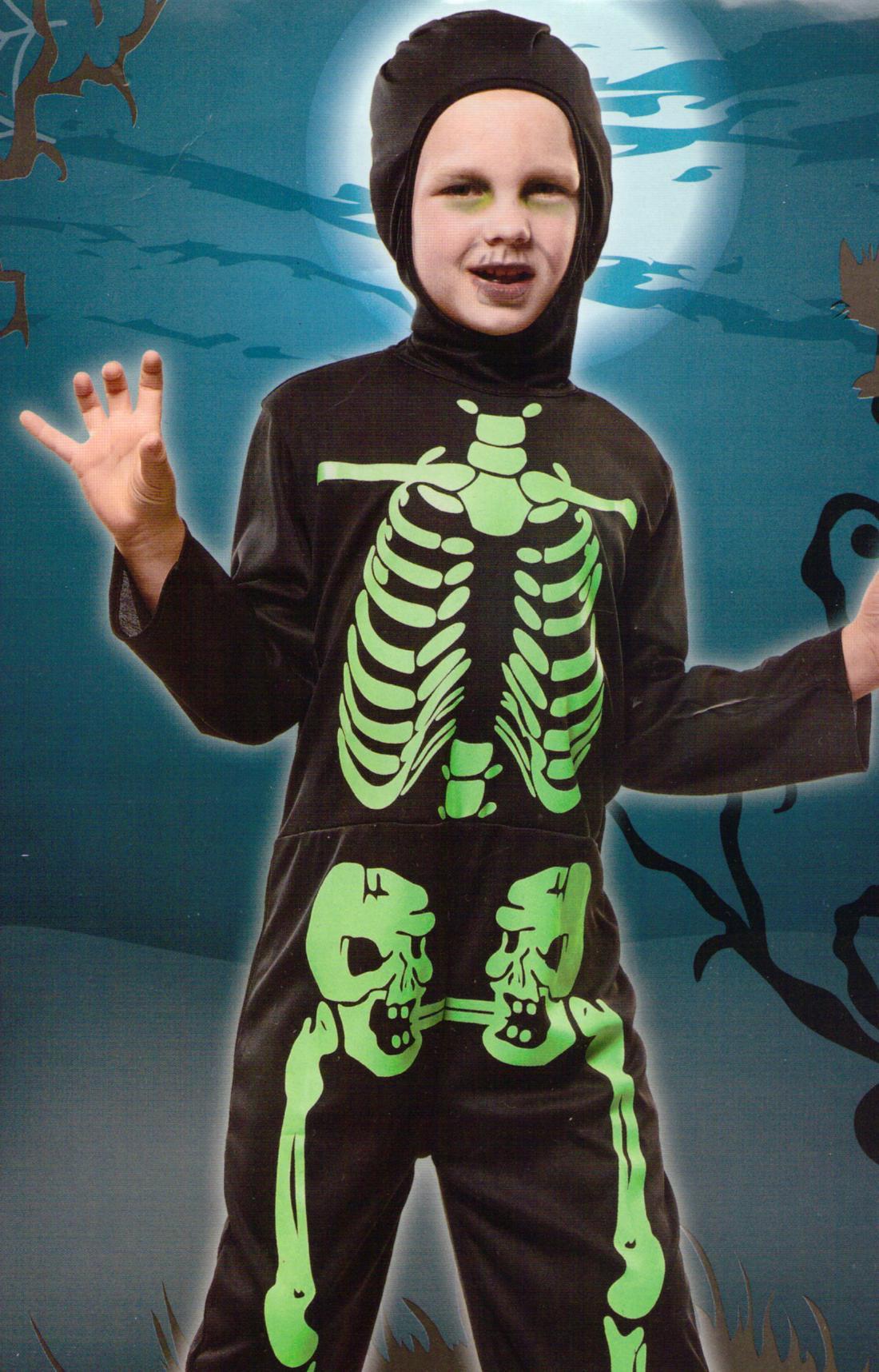 kinder kost m skelett knochenmann grusel halloween horror fasching karneval gr m ebay. Black Bedroom Furniture Sets. Home Design Ideas