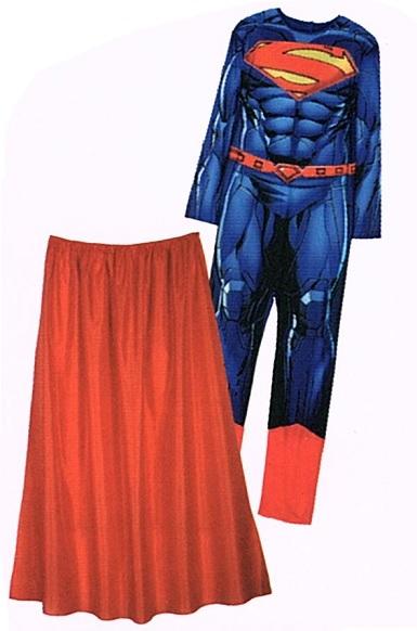 L Superman Kostüm Superheld Gr 2-teilig Fasching Karneval Verkleidet 52//54